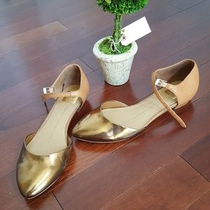 Dolce Vita bronze and tan flats